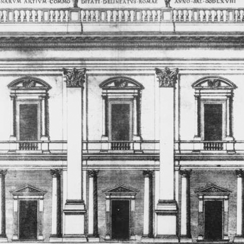 Drawing of the facade