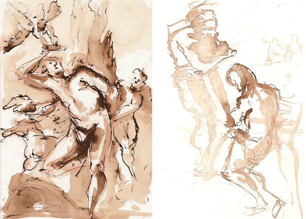 Copies of Tiepolo drawings