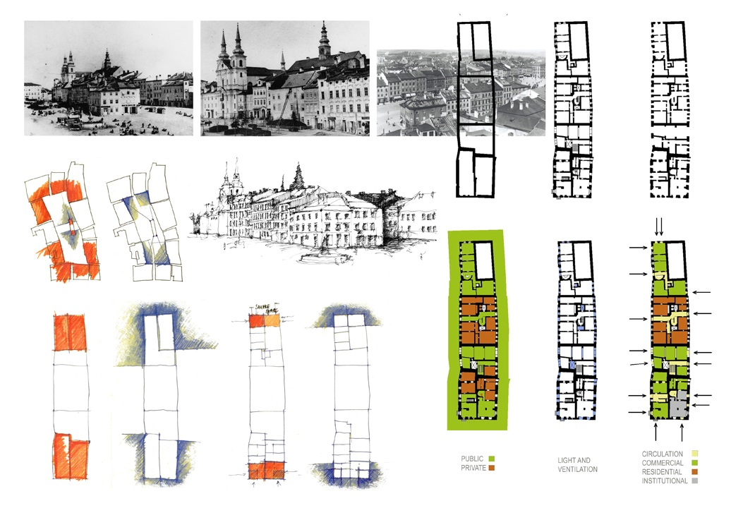 Urban block Krecl - reconstruction analysis