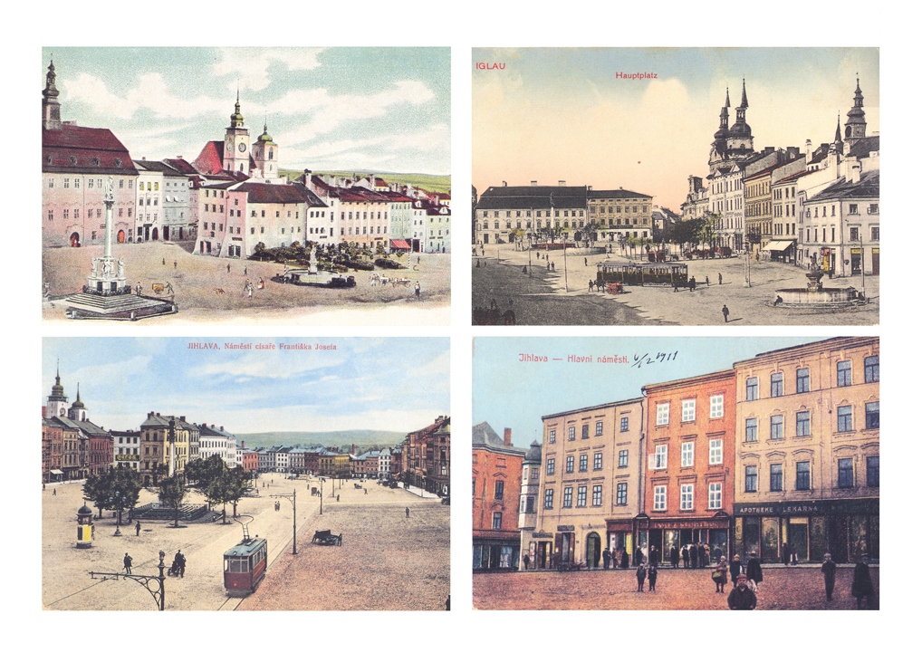 The town square on historical postcards 2
